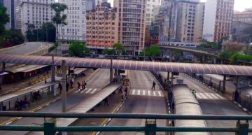 Sao Paulo's Bandeira Bus Station at rush hour. Photo: Jornalistas Livres