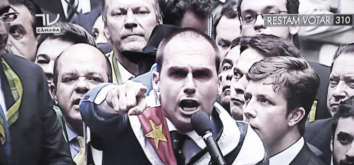 "Outrage at Eduardo Bolsonaro as he calls for ""a new Dictatorship"" if Brazil emulates Chilean Protests"