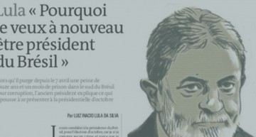 Lula in Le Monde: I am running to give back the poor and excluded their dignity