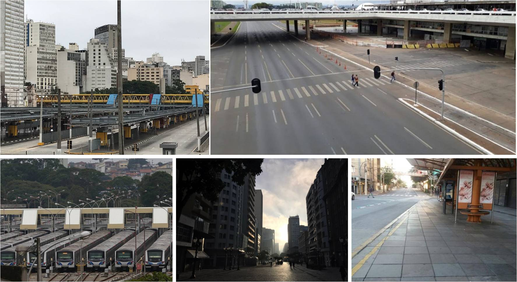 Empty, rush hour streets in cities across the nation during 2017 general strike